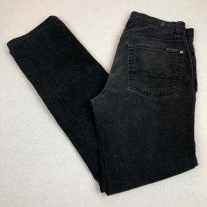 7 For All Mankind Black Slimmy Skinny Jeans